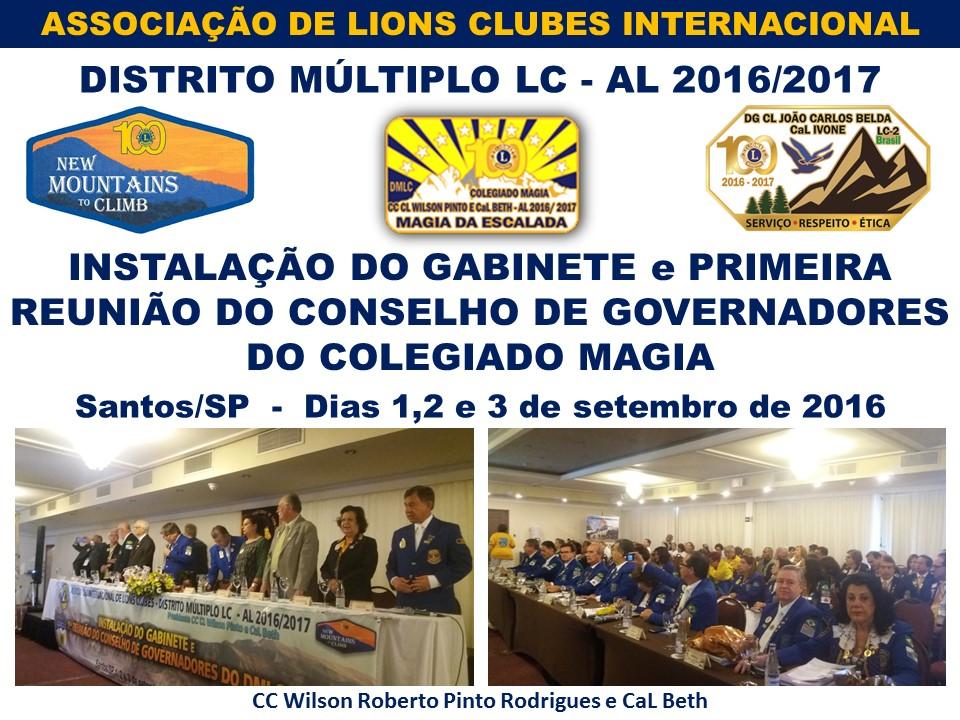 Instalação do Gabinete e Primeira Reunião do Conselho de Governadores do Colegiado Magia