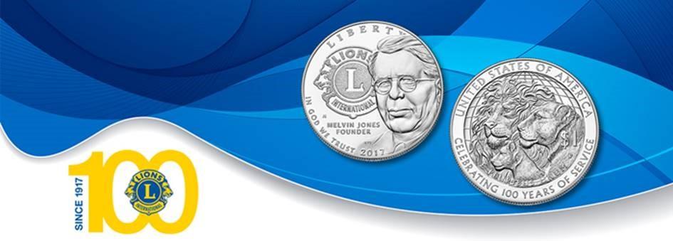 Tenha uma moeda de edição limitada comemorativa do Centenário dos Lions Clubes